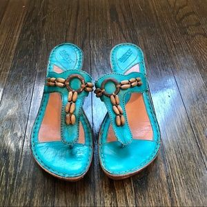 Born Leather Beaded Sandals